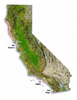 Historical range of Campanula californica.